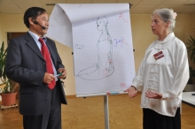 Xuelin Jiang & Dr. Cornelia Richter beim Vortrag