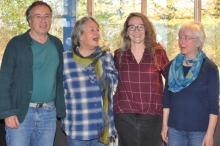 Der neugewählte Ausbildungsbeirat: Rainer Jakisch, Gise Schöller, Susanne Gerhardt und Ulrike Dehnert.