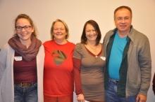 Der Ausbildungsbeirat: Susanne Gerhardt, Gise Schöller, Claudia Rausch-Michl und Rainer Jakisch.