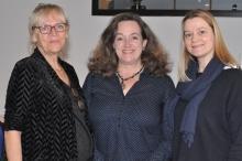 Im Beirat FoDoLi tätig sind Vera Kaltwasser, Regina Pauly und Anne Keibel (v.l.n.r.).