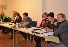 Die Tagungsleitung bestand aus Vorstand, Geschäftsstelle und Moderatorin Meike Fabian.