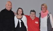 Für weitere drei Jahre im Vorstand: Helmut Bauer, Susanne Thiel, Fotini Papadopulu und Christiane Kirmeier,