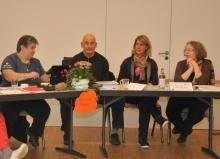 Der neugewählte Vorstand am Tagungspodium