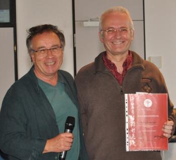 Rainer Jakisch vom Ausbildungsbeirat und Georg Seeberger