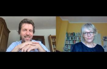 Vera Kaltwasser (Beirat für Forschung der DQGG) mit Prof. Dr. Michalak